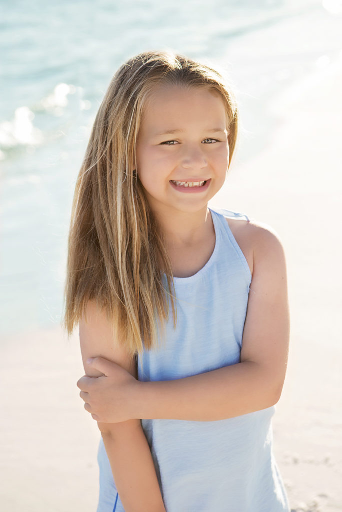 the raymond family ~ head shot of a young girl on the beach | rosemary beach family photographer