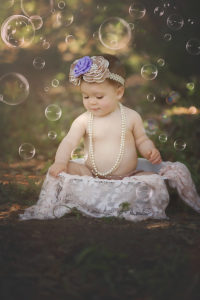 everly turns one | 12 month old baby girl playing with bubbles {30a photographer}