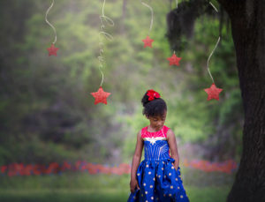jylah is a miracle | little girl under an oak tree surrounded by glitter stars {30a-florida panhandle-wiregrass region child photographer}