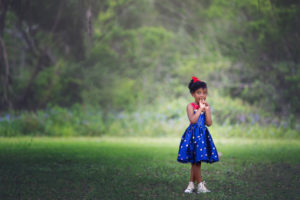 a perfect miracle | little girl in a captain marvel outfit under the oak trees {grayton beach photographer}