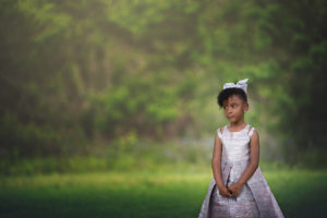 a perfect miracle | 5 year old girl in the forest dressed in a princess gown {30a photographer}